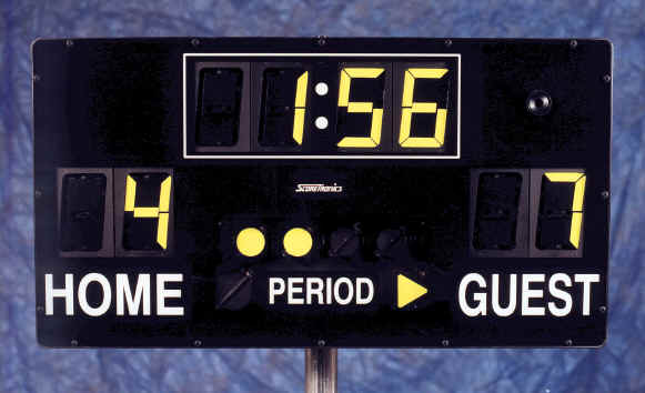 Portable scoreboard for football, basketball, soccer, lacrosse, wrestling, hockey