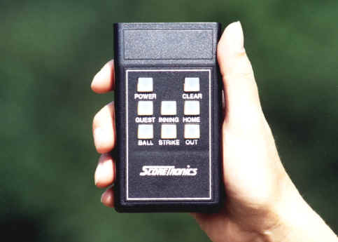 Full function remote control for PVL-4 portable scoreboard.