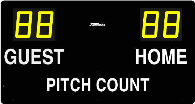 Portable Pitch Count Display